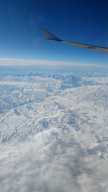 Flying home over Iranian mountains I believe.