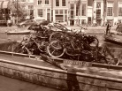 And yet bike-stealing and throwing them into the canal also is rampant here. A barge after a day of fishing.