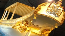 The royal barge at the Maritime Museum.